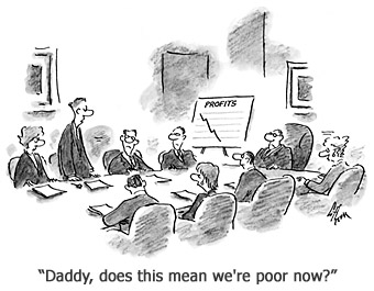 Cartoon: Daddy, does this mean we're poor now?